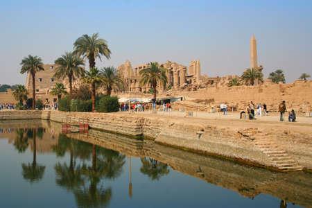 Saint Karnak Temple in reflection #6