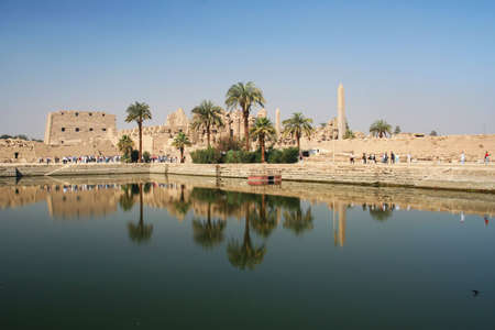 Saint Karnak Temple in reflection #5