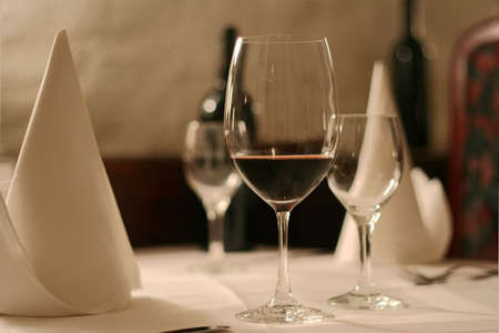 elegant  first-class restaurant Stock Photo
