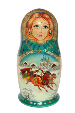 Winter russian Nested doll Stock Photo - 508195