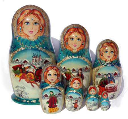 Winter Nested doll Stock Photo - 508196