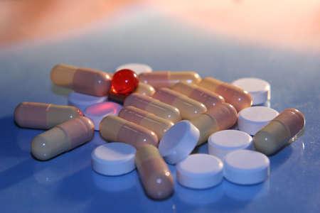commissioner: red  vitamin over  bars Stock Photo