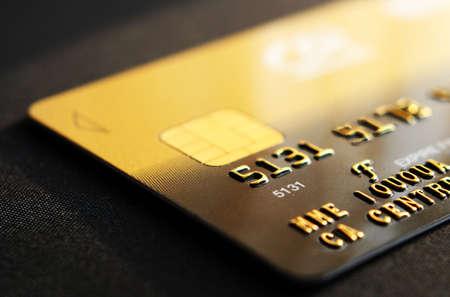 creditcard: gold creditcard