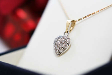pendent: Elegant pendent Heart Stock Photo