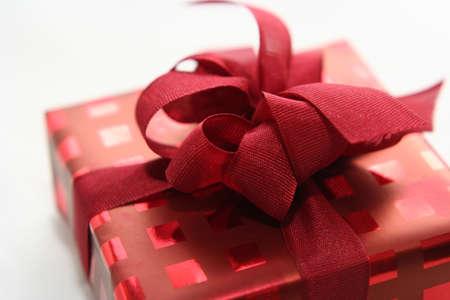 single gift isolated on white background