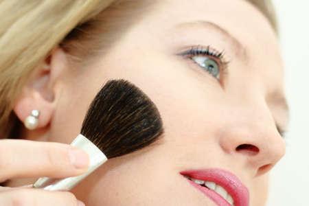 Morning make-up face Stock Photo