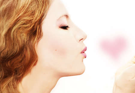 smooth beauty with Tender love heart photo