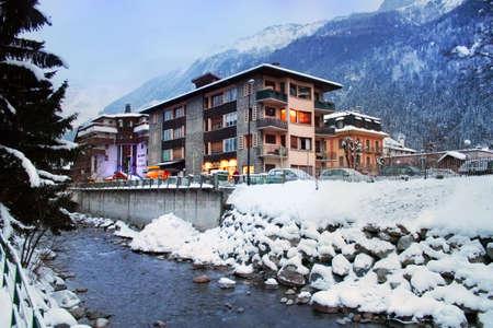 Winter resort Chamonix in France