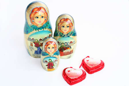 two heart for matrioshkas Stock Photo - 747710