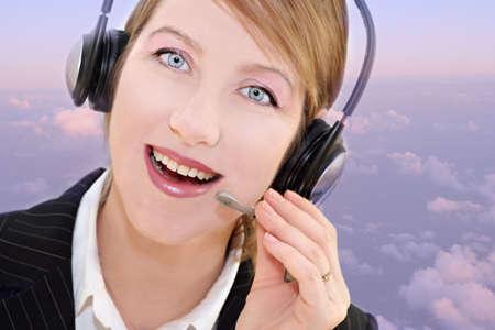 Woman operator photo