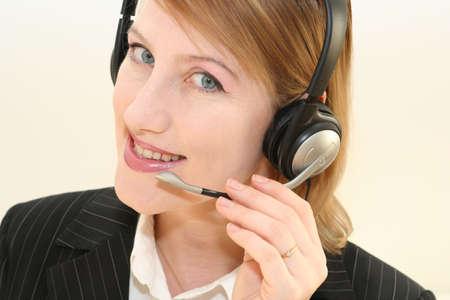 smiling phone operator photo