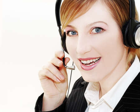 woman customer s operator photo