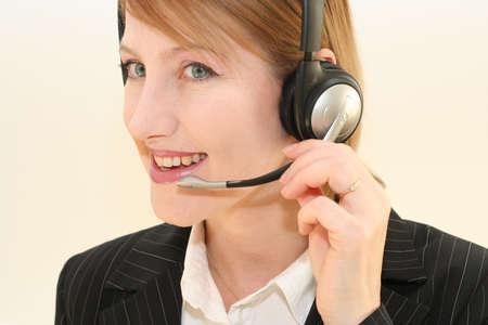 Woman phone operator photo