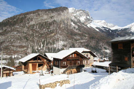 Winter chalet photo
