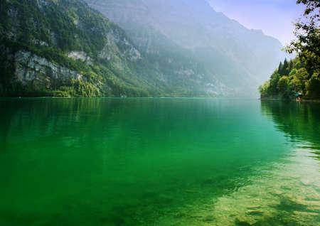Tender swiss lake Klontal Stock Photo - 4254729