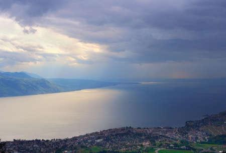 Swiss lake Leman and stormy skies Stock Photo - 4254727
