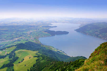 Swiss alps Rigi Kulm Stock Photo