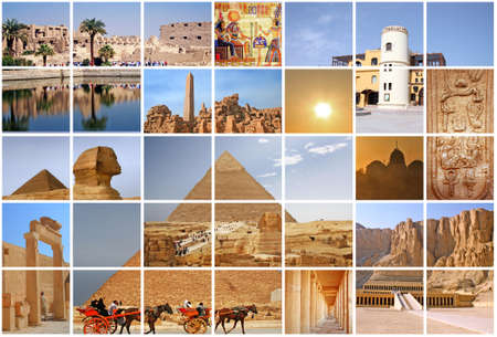 Fabulous Egypt collage Stock Photo