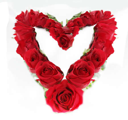 Red roses heart Stock Photo