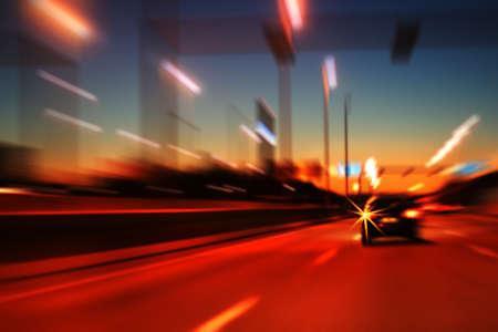Night highway Stock Photo
