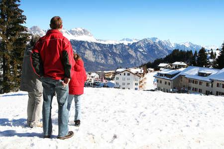 Family in Alps Stock Photo - 2909881