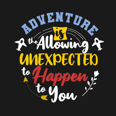 Premium quote about adventure and journey Illustration