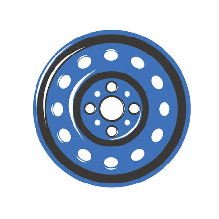 snow tire: Car wheel iron