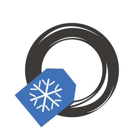snow tire: Winter tire car for snow