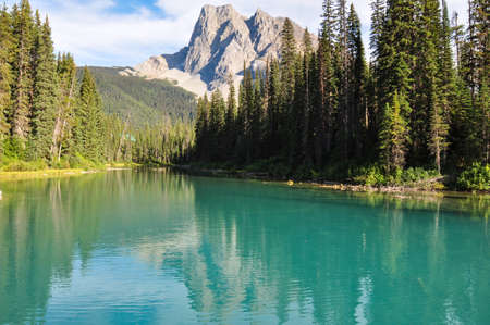 Incredible Emerald Lake in the rockies, British Colombia, Canada.
