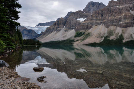moutains: Reflection at the Rendez-vous, Rockies, Canada.