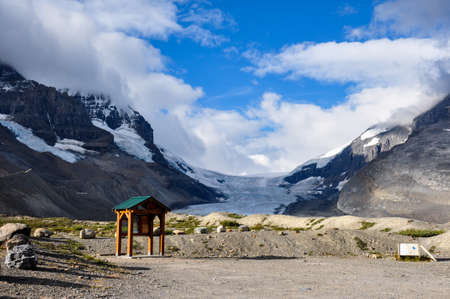 icefield: Athabaska Glacier on Icefield Parkway in all it