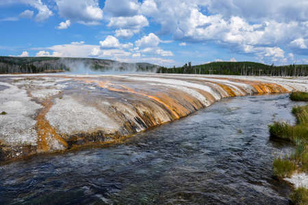 tats: One of the many scenic landscapes of Yellowstone National Park, Wyoming, USA.