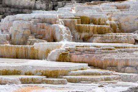 tats: Mammoth Terraces, Yellowstone National Park, Wyoming, USA.