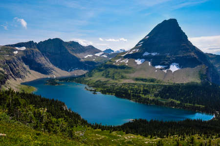 tats: Hidden Lake Trail, Glacier National Park, Montana, USA.