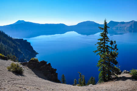 tats: Crater Lake National Park, Oregon, USA. Stock Photo