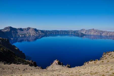 crater lake: Crater Lake National Park, Oregon, USA. Stock Photo