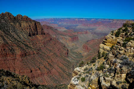 tats: Grand Canyon view from east rim, Arizona, USA. Stock Photo