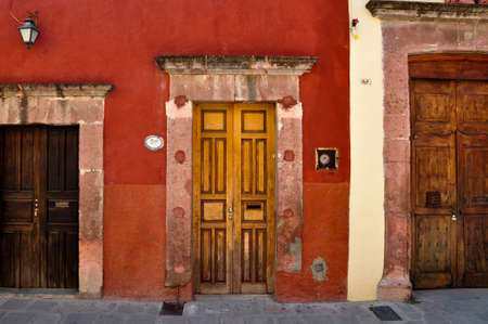 medium size: Three doors with different sizes, San Miguel de Allende, Mexico.