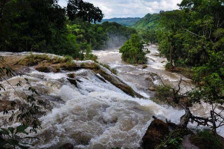 azul: Agua Azul, Chiapas, in Mexico Stock Photo