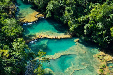 Semuc Champey natural swimming pools, Guatemala. 版權商用圖片