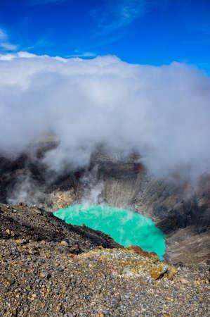 el salvador: Crater of Volcan Santa Ana, Cerro Verde National Park, El Salvador.