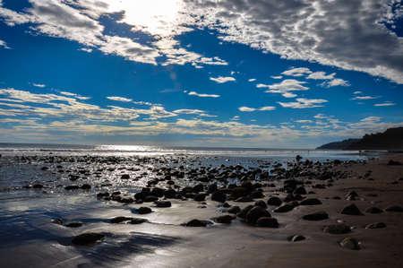 el salvador: Playa El Zonte, El Salvador.