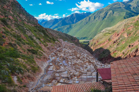 sacred valley: Salinas de Maras, Sacred Valley, Peru.