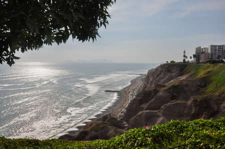 miraflores: Miraflores cliffs, Lima, in Peru. Stock Photo