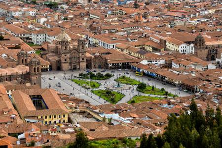 plaza de armas: View over Plaza de Armas in Cusco, Peru.