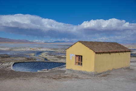 roadless: Isolated Thermal station in Sur Lipez, South Bolivia.