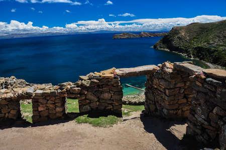 Inca Ruins of Isla del Sol, Bolivia. photo