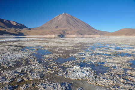 lipez: Volcan Licancabur with Gorgeous landscapes of Sur Lipez, South Bolivia.