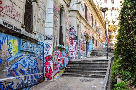valparaiso: Little streets of Valparaiso, Chile.