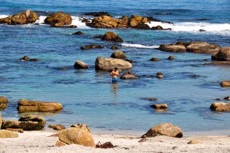 pablo neruda: Swimming bath in Isla Negra, Chile. Stock Photo
